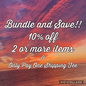 Bundle 2 or More Items for Discounts/Shipping Fees